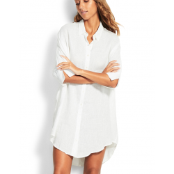 SEAFOLLY  Linen Shirt Dress